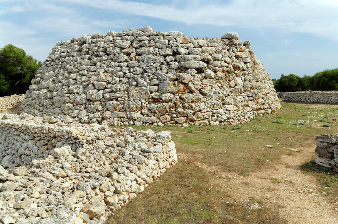 The Grand Talyot 1100-550BC, Trepuco near Mahon/Mao, one of many prehistoric site on the Island of Menorca, Spain.