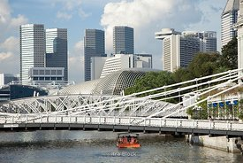 Cavenagh Bridge, the only suspension bridge and one of the oldest bridges in Singapore.