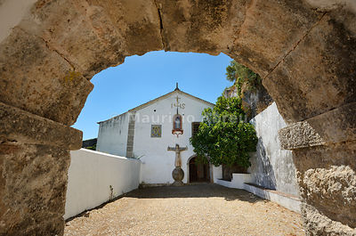 The Arrábida Monastery, dating back to the 16th century, in the Arrábida Nature Park. Setúbal, Portugal
