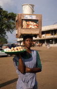 Woman selling food, Ho, Volta region, Ghana