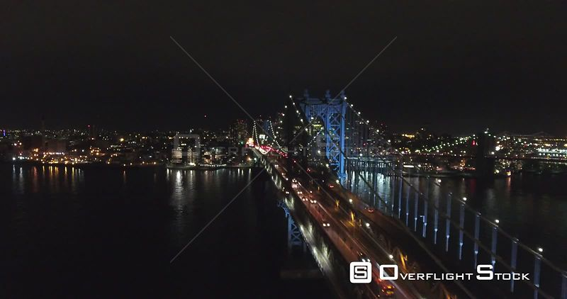 Travel from East to West with traffic alongside the Manhattan Bridge above it all.