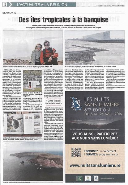 """Le Quotidien"" newspaper - April 2016"