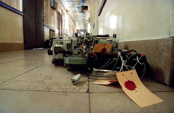 Sewing machines entered the premises of the 12th section of the intelligence services.