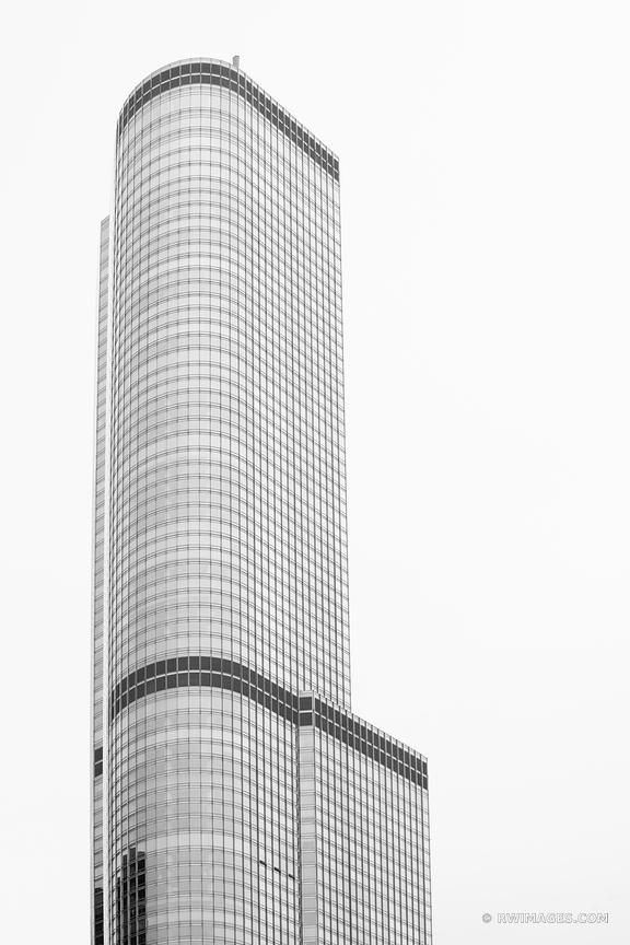 TRUMP TOWER CHICAGO ILLINOIS BLACK AND WHITE