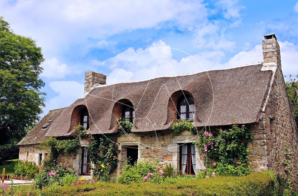 Carte de voeux calendrier 2017 images phototh que apparence maison breton - Maison traditionnelle bretonne ...