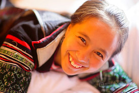Young Black Hmong Tribal Woman