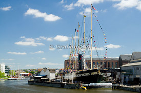 Brunels ship The S S Great Britain, floating harbour, bristol, england.