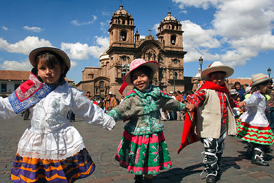 Dancers during Cusco Week, Cusco, Peru