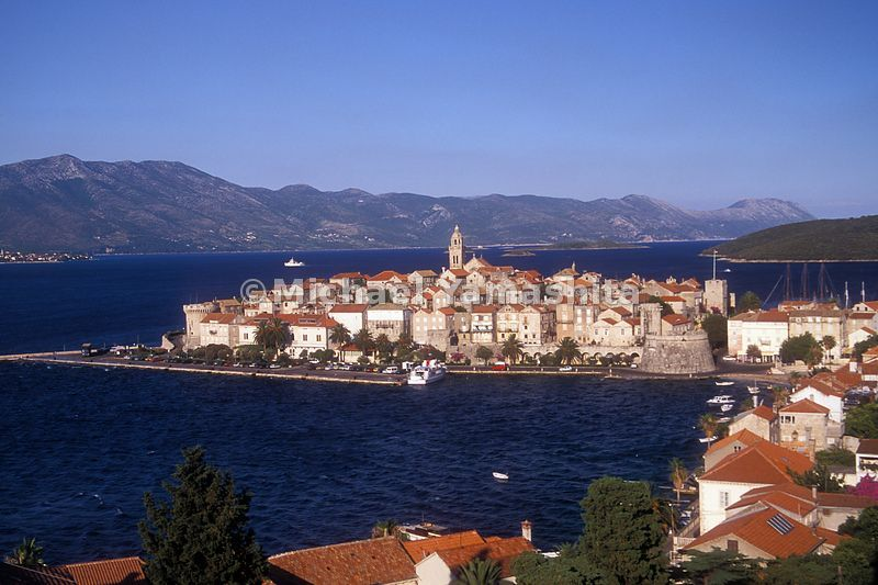 Korcula, just off the Dalmatian Coast of Croatia.