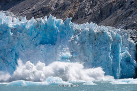 Ice calving off at Dawes Glacier, Endicott Arm, Southeast Alaska.  Sequence 5 of 11.