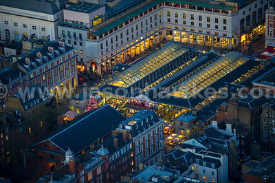 London. Aerial view of Covent Garden Market