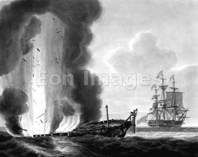 HMS Java sinks during War of 1812