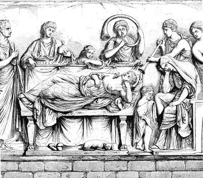 Roman ceremony Conclamatio over the Dead