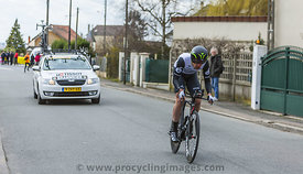 The Cyclist Matthew Martin Brammeier - Paris-Nice 2016
