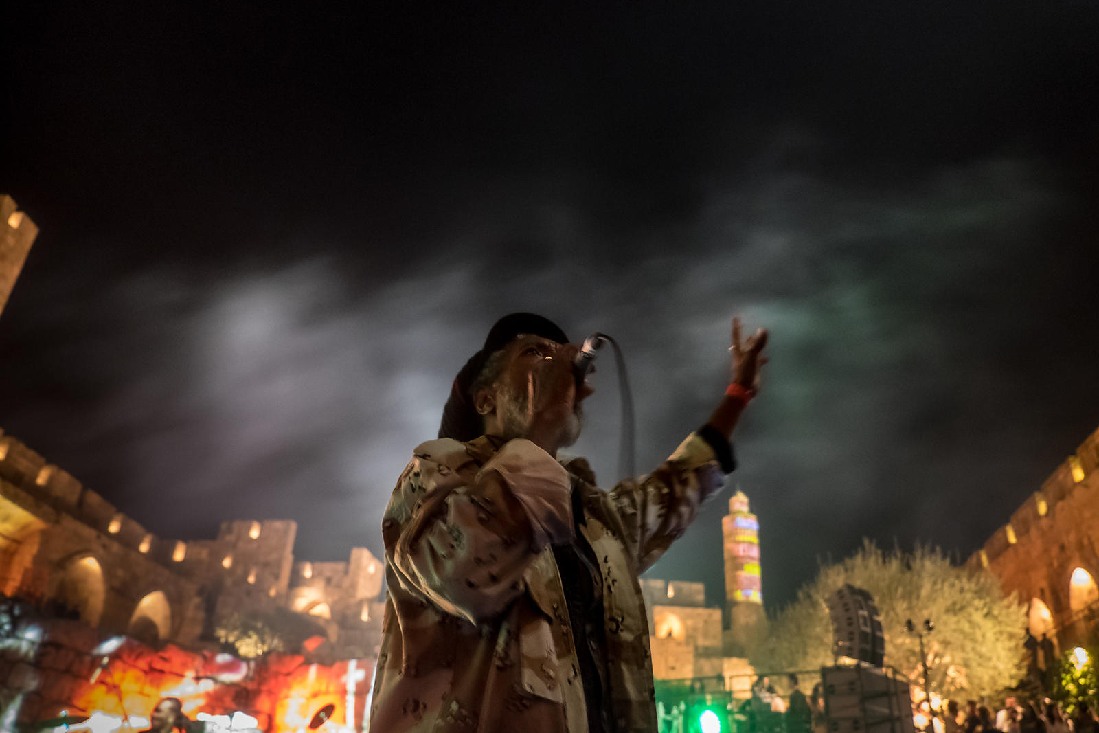 I JAHMAN LEVI AT TOWER  OF DAVID- JERUSALEM- 2014