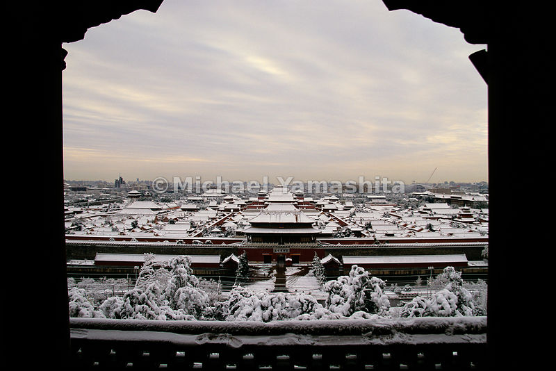 Zhu Di, the third Ming emperor, was the patron of Admiral Zheng He, the famed sea-faring explorer. It was Zhu Di who moved the capital from Nanjing to Beijing, and constructed the Forbidden City, shown here covered in snow.