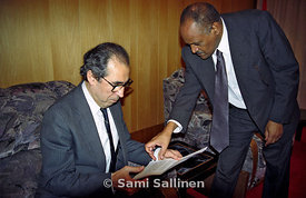 Haile Woldetensae and Mohamed Sahnoun