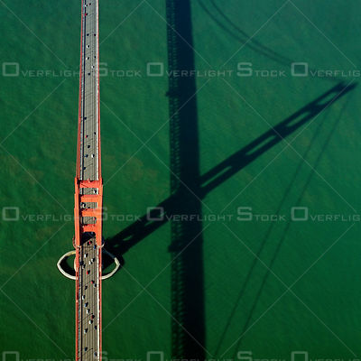 Golden Gate Bridge Resembles a Giant Sundial. San Francisco California