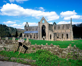 tintern abbey, wye vlley, monmouthshire, south wales.