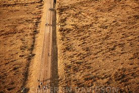 Aerial Ethiopia Dirt Road