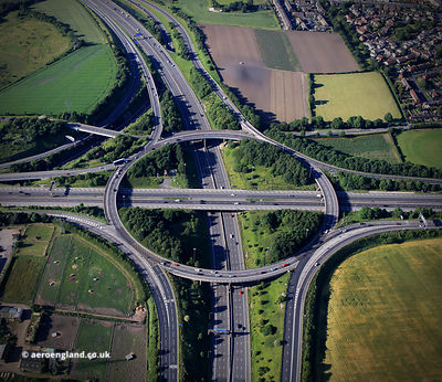 Lofthouse  interchange - the intersection of the  M1 and M62 motorways