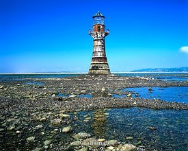 abandoned victorian lighthouse whiteford point gower peninsula south wales
