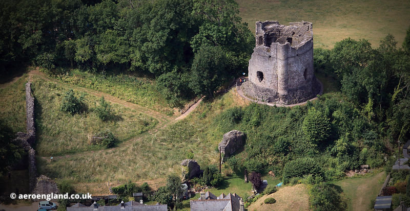 Longtown Castle Herefordshire  aerial photograph