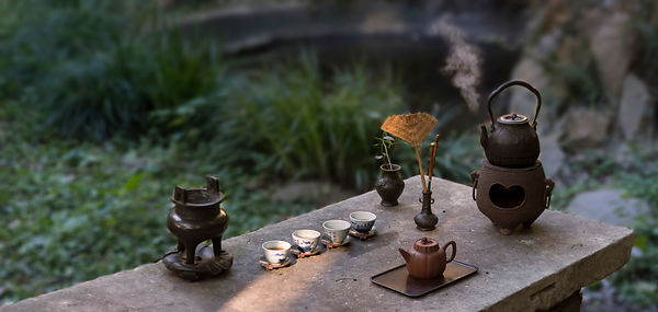 Tea table in garden