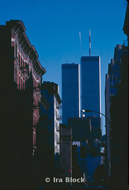 A view of the Twin towers, New York