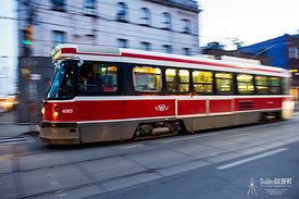 Street Car on the Move