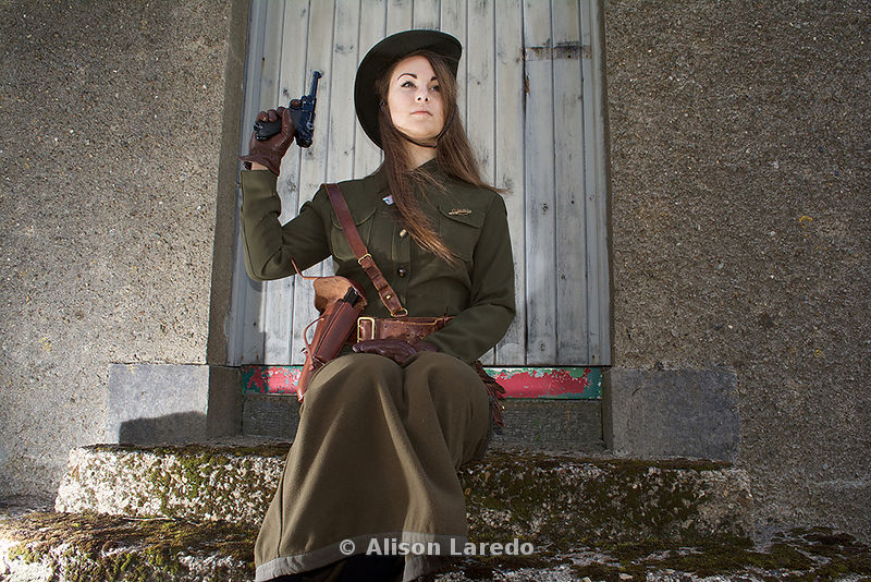 Eithne Kilroy at the 1916 Commemoration, Castlebar PHOTO: ALISON LAREDO