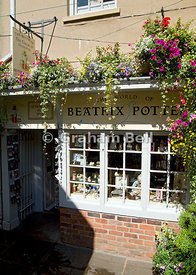 Beatrix Potters The House of the Tailor of Gloucester, shop and museum, College Court, Gloucester, England.