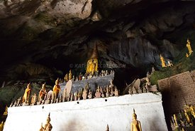 Statues inside Tham Ting (lower cave)