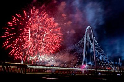 Margaret Hunt Hill Bridge Fireworks 1