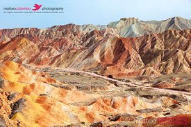 Sunan Danxia Landform colored mountains, China
