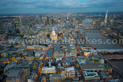 Aerial view of the St Paul's, City of London