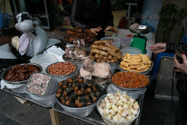 Street food for sale in Hanoi, Vietnam