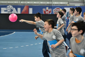 during the Final Tournament - Final Four - SEHA - Gazprom league, Kids Day, Varazdin, Croatia, 02.04.2016, ..Mandatory Credit ©SEHA/Nebojša Tejić