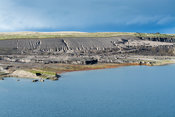 Disused quarry filled with water, Cumbria, UK