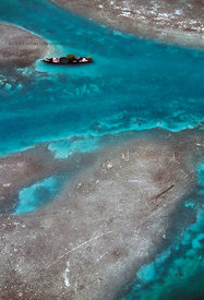 FL, Key West, aerial, sunken ship near Key West