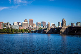 Boston Skyline and Longfellow Bridge Photo