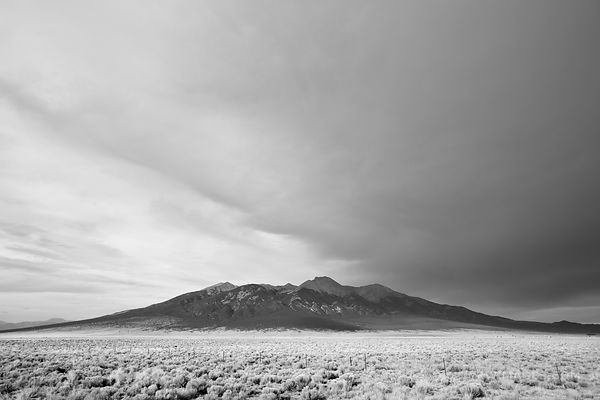 BLANCA PEAK ROCKY MOUNTAINS COLORADO BLACK AND WHITE