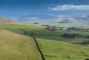 View from Orton Scar in Cumbria, looking towards the Howgill Fells. UK.