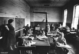 Appalachian class room with teacher