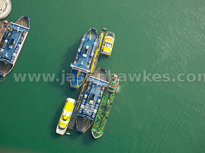 Aerial view of Boats, Portsmouth
