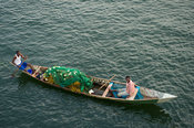 Fishing canoe on the Lower Volta River, Akosombo, Ghana
