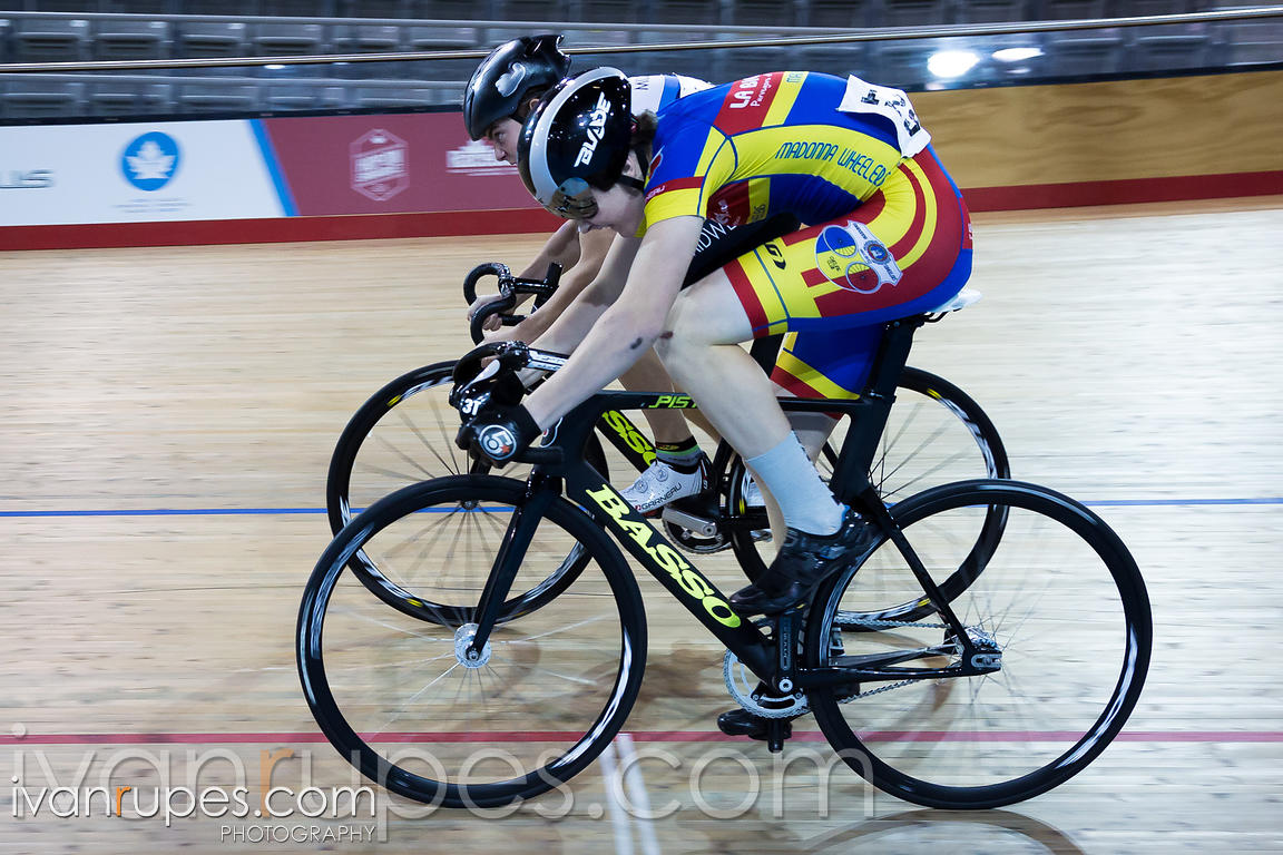 U17 Men Sprint 1-2 Final. 2016/2017 Track O-Cup #3/Eastern Track Challenge, Mattamy National Cycling Centre, Milton, On, February 11, 2017