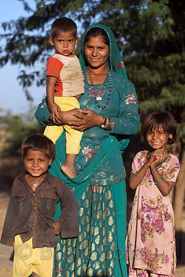 Cheeta caste family in rural Kharekhari village, Rajasthan, India.