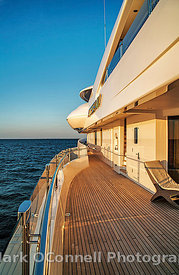 Sun on side deck