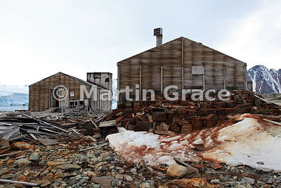 Old rubbish outside East Base (1939-1941, 1947-1948) of the United States Antarctic Service on Stonington Island, Marguerite Bay, Antarctica